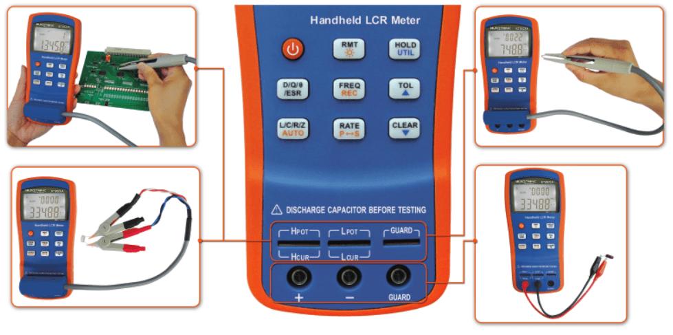 Portable LCR Compteur ST2822A Utilisation