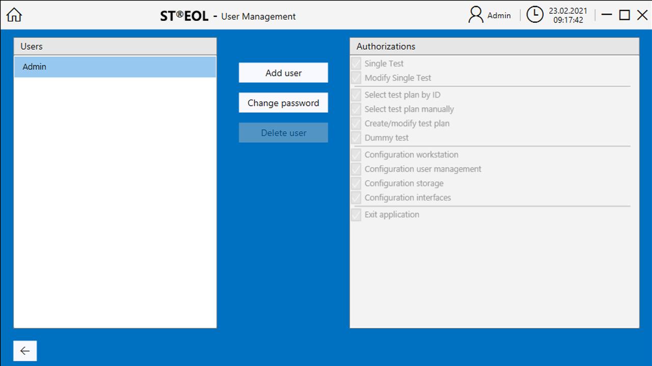 ST@EOL User Management