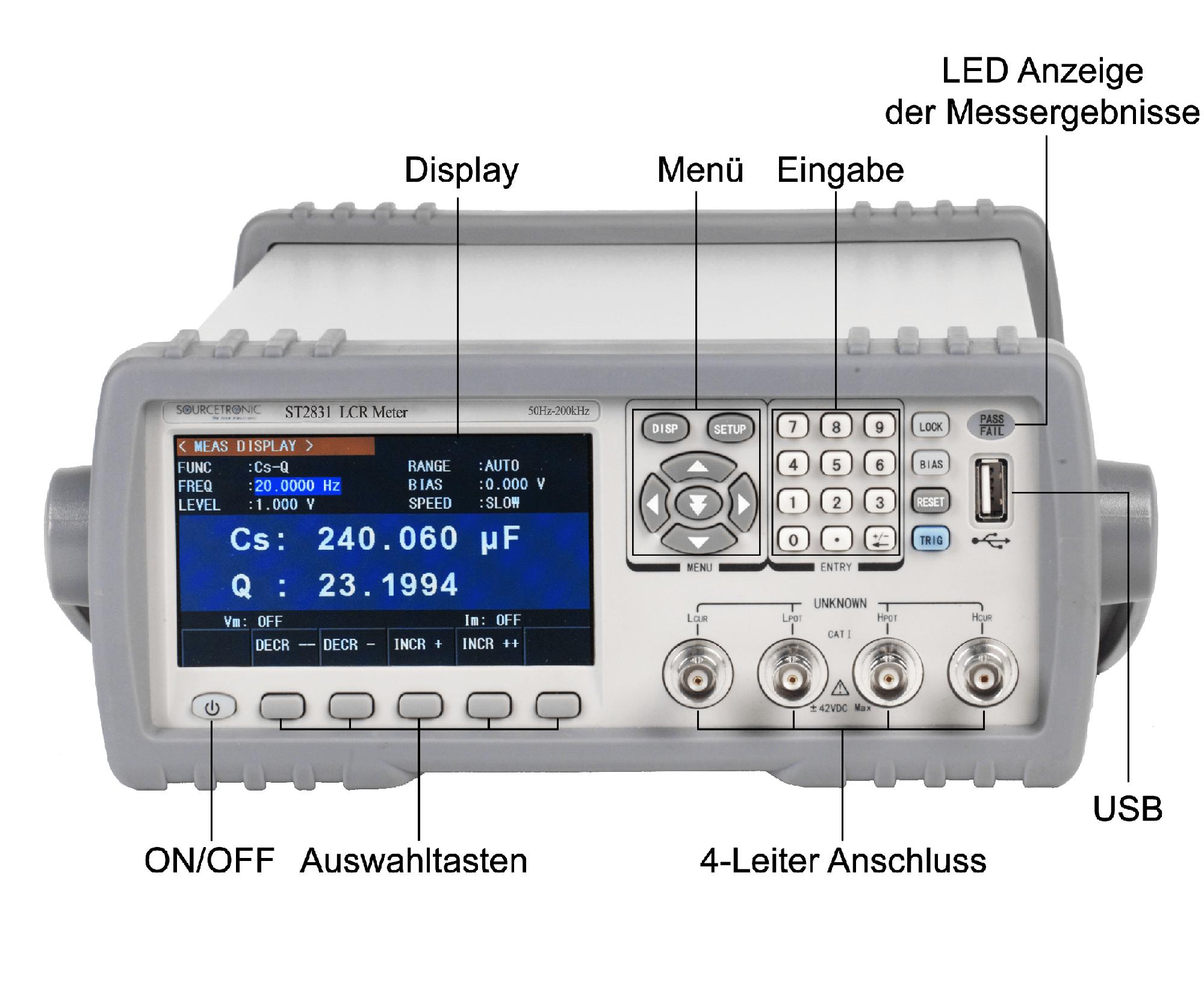ST2830 LCR Meter Übersicht