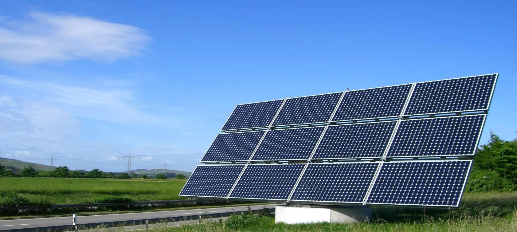 Solaranlage für den Solar-Umrichter
