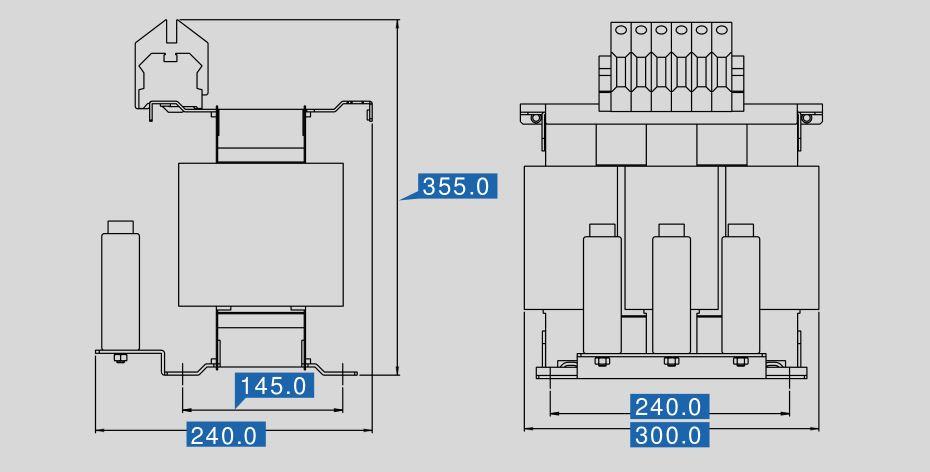 Sinusfilter SFB-N 400/90 Maße