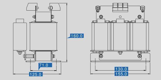 Sinusfilter SFB400-10 Maße