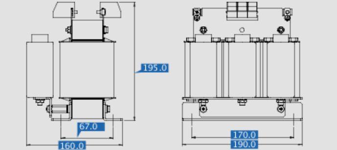 Sinusfilter SFB400-16,5 Maße