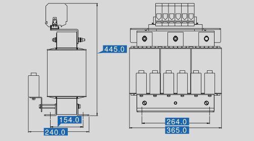 Sinusfilter SFB400-180 Maße