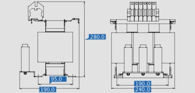 Sinusfilter SFB400-23,5 Maße