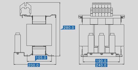 Sinusfilter SFB400-32 Maße