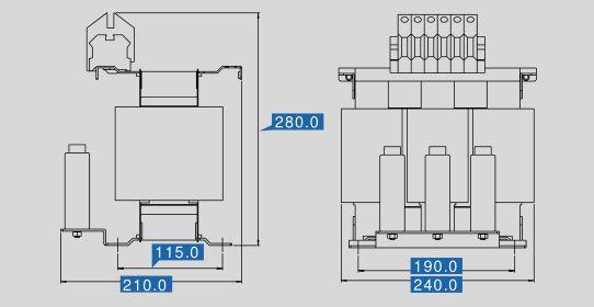 Sine filter SFB 400/37 dimensions