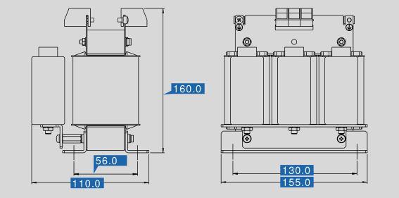 Sine filter SFB 400/4 dimensions