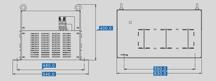 Sine filter SFB 400/440 dimensions