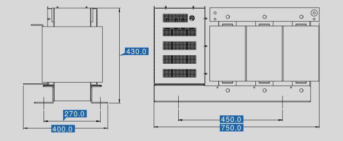 Sinusfilter SFB400-480 Maße
