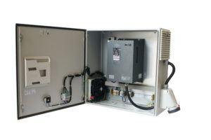 Frequenzumrichter im Pumpensteuerung Schaltschrank
