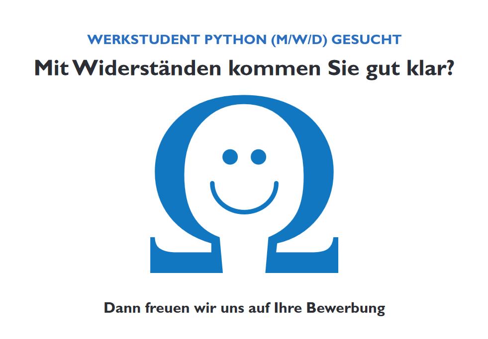 Werkstudent Python gesucht - Stellenangebot Bremen